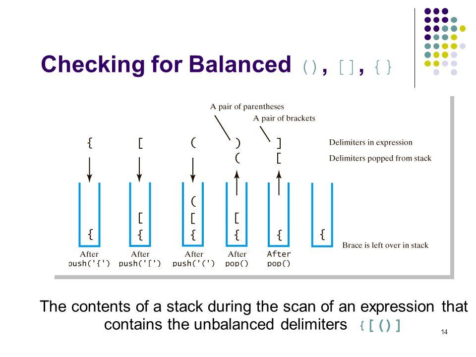 Checking for Balanced (), [], {}